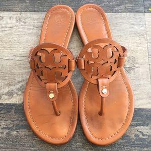 Tory Burch Miller sandals brown cognac